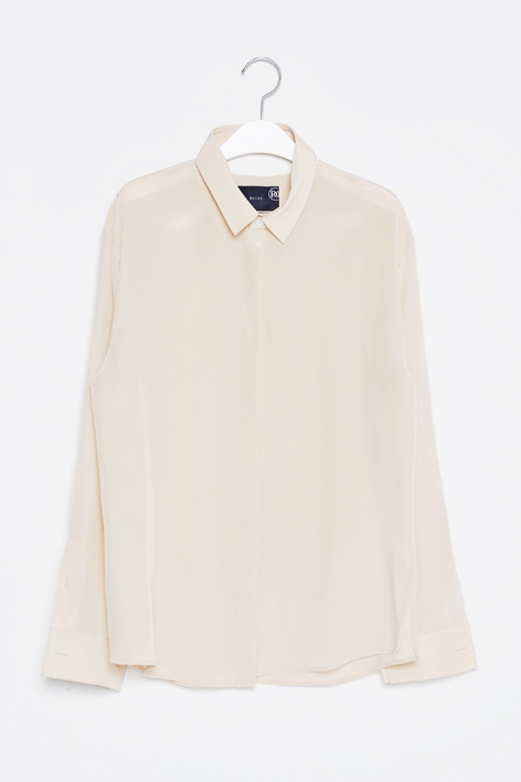 16FW SLICE SILK SHIRT (BEIGE)