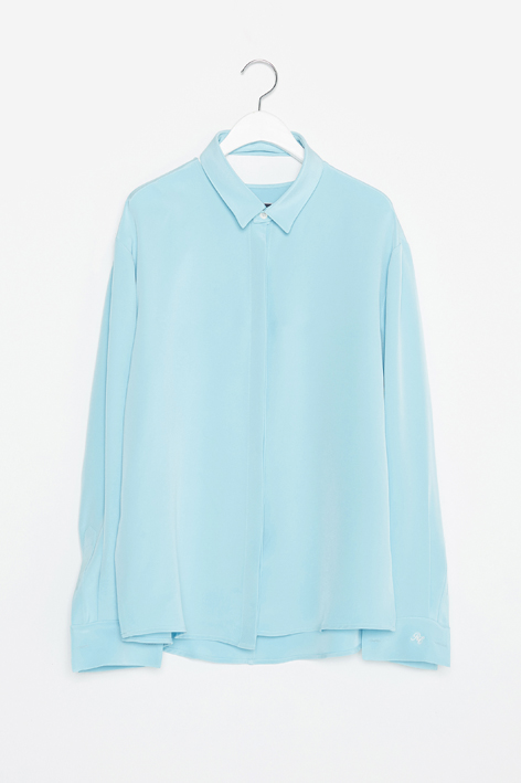 16FW SLICE SILK SHIRT (MINT)