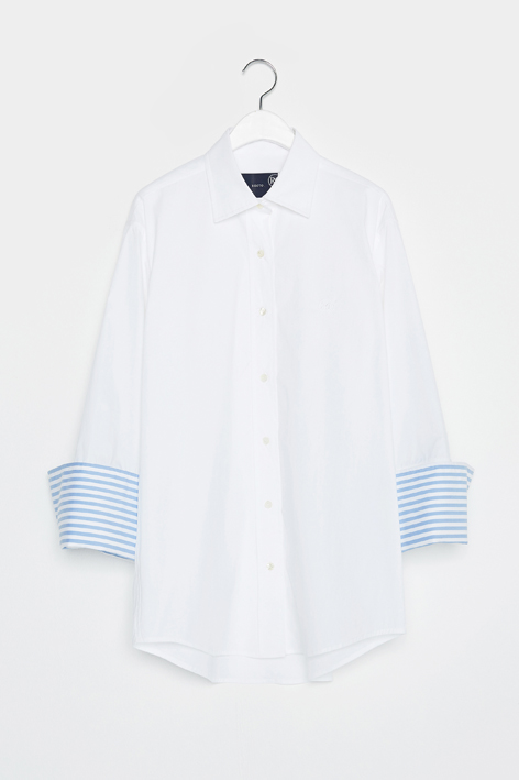 16FW WIDE CUFFS SHIRT (WHITE)