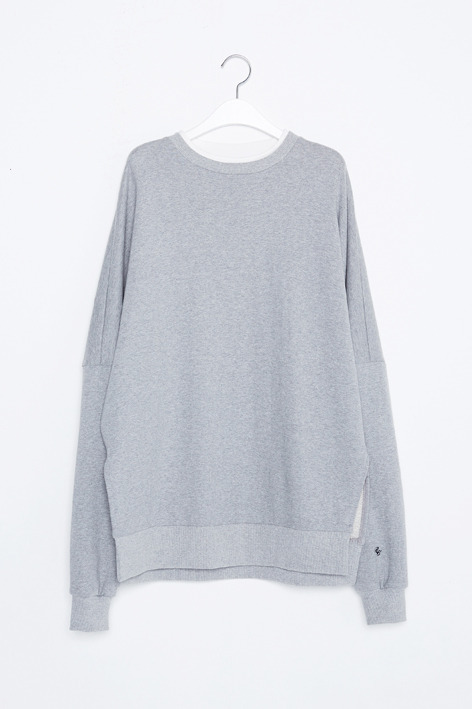 16FW OVERSIZED DOUBLE NECK SWEAT (GREY)
