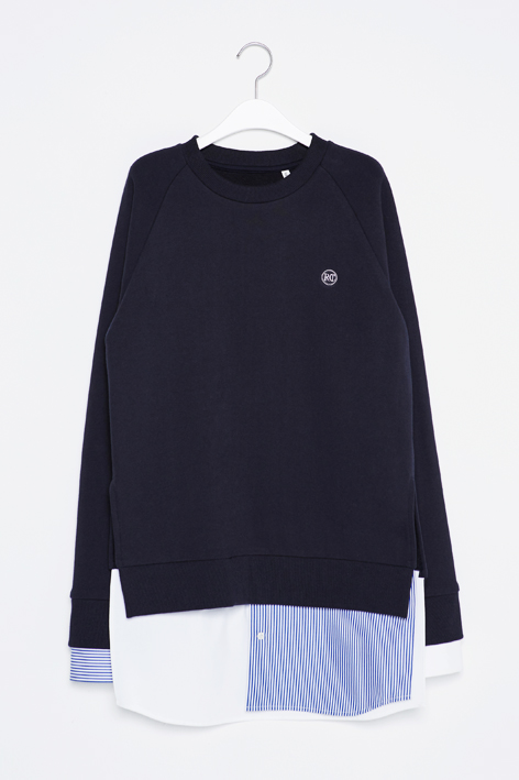 16FW SHIRT LAYERED SWEAT