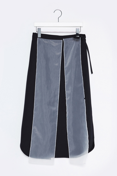 16FW SILK BLIND WRAPPED SKIRT