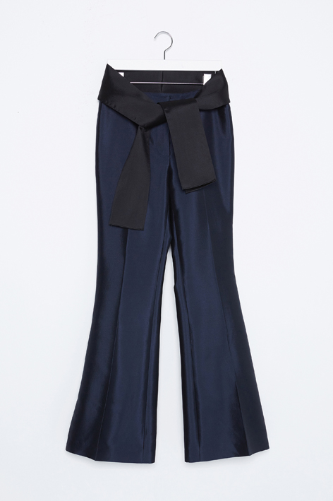16FW RIBBON TAILORED SILK PANTS