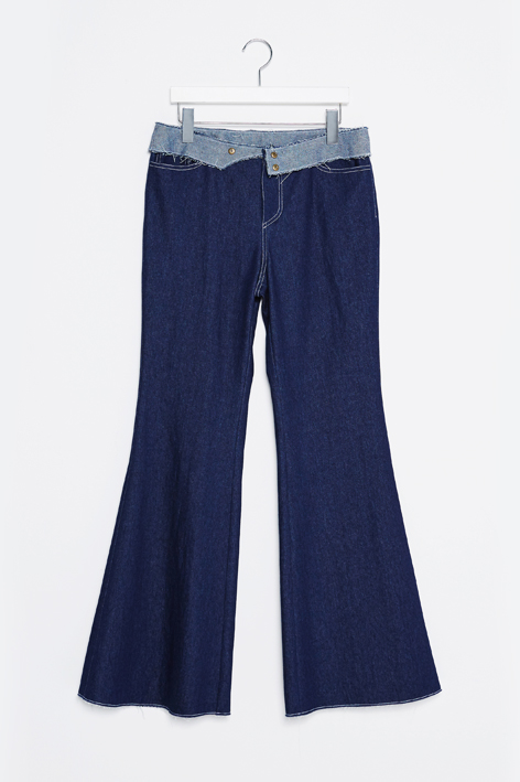16FW PANEL WAISTBAND DENIM PANTS