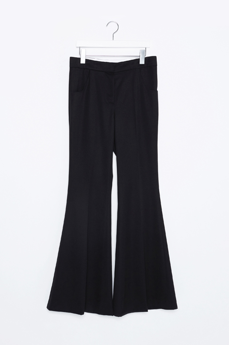 16FW BLACK FLARED PANTS