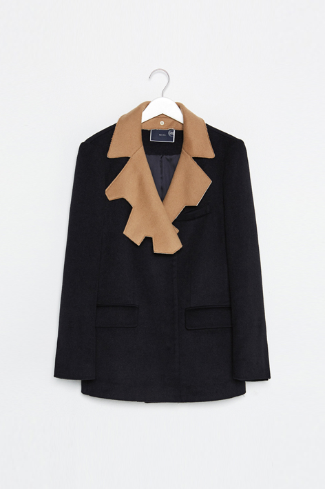 16FW REVERSIBLE COLLAR WOOL JACKET