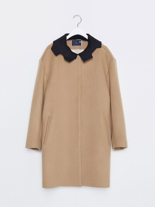 16FW REVERSIBLE COLLAR CAMEL WOOL COAT